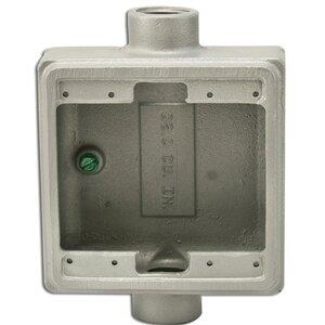"Appleton FSC275 FS Device Box, 2-Gang, Feed-Thru, Type FSC, 3/4"", Malleable Iron"
