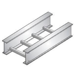 "United Structural Products A620C-09-SL20-24-G Ladder Cable Tray, Straight, 6"" High, 9"" Rung Spacing, 20' Long, Aluminum"