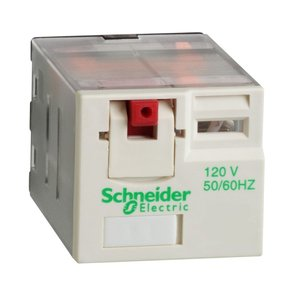 Square D RPM31F7 Relay, Ice Cube, 15A, 3PDT, 11-Blade, 120VAC Coil, Test Button