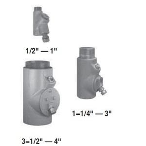 "Appleton EYD26 Conduit Seal, 3/4"", Male/Female, Vertical (25% Fill), Malleable"
