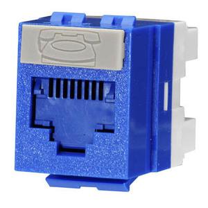 Molex Premise Networks KSJ-00018-BL Snap In Connector, PowerCat 6, DG Jack, Cat 6, 568A/B, Blue