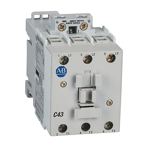 Allen-Bradley 100-C43D10 Contactor, IEC, 43A, 3P, 120VAC Coil, 1NO Auxiliary Contacts