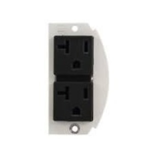 Wiremold 68REC Mounting Plate, (2) 20A Duplex Receptacle