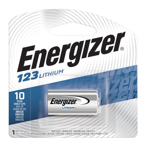 Energizer EL123APBP Lithium Photo Battery, 3V, 1,500 mAh
