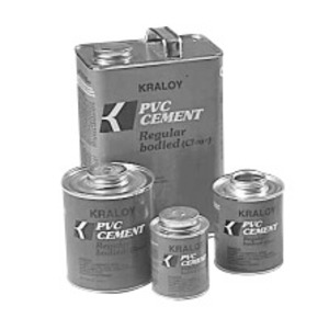 Kraloy 078887 Clear Regular Bodied Solvent Cement, 1 Gallon