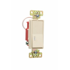Pass & Seymour 2629-I Pilot Light Decorator Switch, 20A, Ivory, Lighted when ON