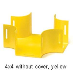 Leviton S4HCR-HCC 4x4 Horizontal Cross w/ Cover, Yellow