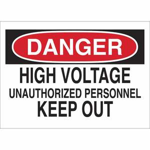 40669 ELECTRICAL HAZARD SIGN