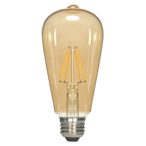 Satco S9578 4.5W ST19 LED, Transparent Amber, Medium Base