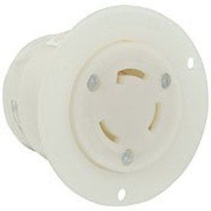 Leviton 3335-C Flanged Outlet, 30A, 125/250V