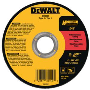 DEWALT DW8725 CUTTING WHEEL BLACK AND DECKER HIGH PERFORMANCE TYPE 1 7/8 IN ARBOR A60T GRIT 25
