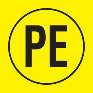 Panduit PESC-J-PE Electrical Symbol, Vinyl Cloth, 'Protect