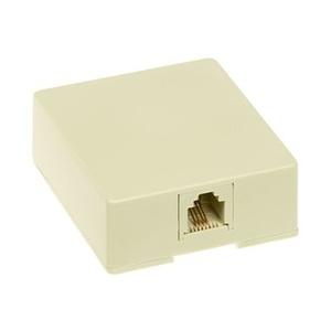 ON-Q SMTE14-I Telephone, Surface Mount, 1 Port, Jack, 8P4C, RJ11, Ivory