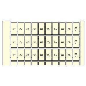 Entrelec 023306004 Terminal Block, RC610, Vertical Marking Cards, 6mm, Legend: 1 - 100