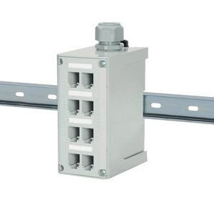 Panduit FDME8RG Enclosure, DIN Rail Mount, 8-Port, Fiber Optic, IndustrialNet