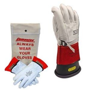 "Cementex IGK0-11-10Y Insulated Electrical Glove Kit, Class 0, 11"", Size 10"