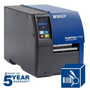 "Brady 149050 Industrial Label Printer, 300dpi, Max Label/Tape Width 4.33"""