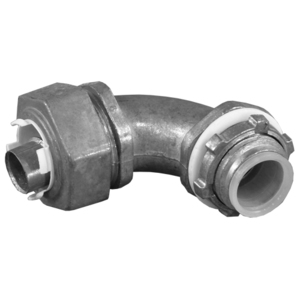 "EGS LML-21 Liquidtight Connector, 90 Degree, 3/4"", Die Cast Zinc"