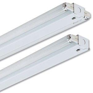 Lithonia Lighting SM232MVOLTGEB10IS Side Mount Strip, 4', 2-Lamp, T8, 120/277V, 32W