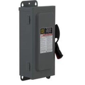 Square D H221A Disconnect Switch, Fusible, NEMA 12K, 30A, 2P, 240VAC, No Neutral