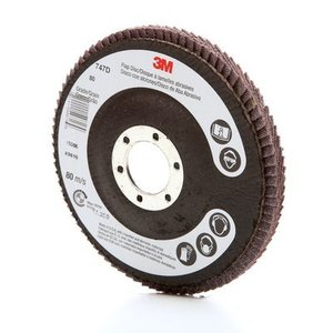 "3M 49616 Flap Disc 747D, T27, 4-1/2"" x 7/8"" 80 X-weight"