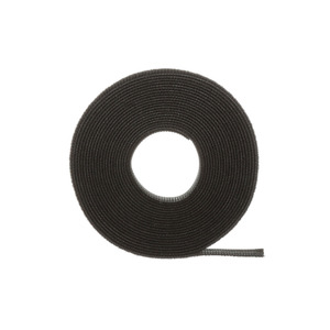 Panduit HLM-15R0 Hook & Loop Cable Ties, Black, 15' Roll