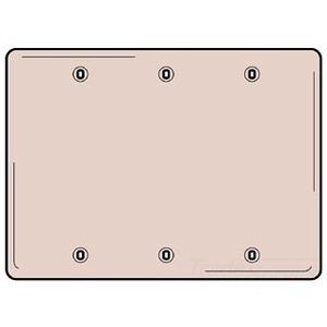 Hubbell-Wiring Kellems SS33 WALLPLATE, 3-G, BLANK, SS, BOX