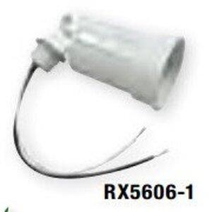 Bizline RX5606-1 Lampholder, Metallic, White