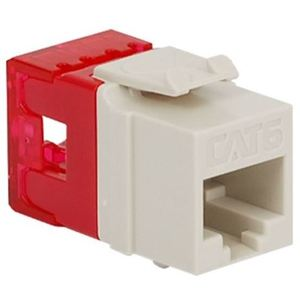 ICC IC1078F6WH Snap-In Connector, High Density, Cat6, Voice Grade, 8P8C, White