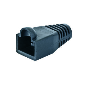 Klein VDV824-632 Boot, Strain Relief, RJ45, Modular, Data Plug, Black *** Discontinued ***
