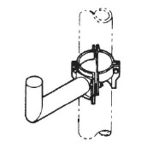 Philips PM-1 Wood Pole Mounting Kit, Galvanized Steel