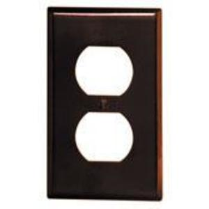 Leviton 85003 Duplex Receptacle Wallplate, 1-Gang, Thermoset, Brown