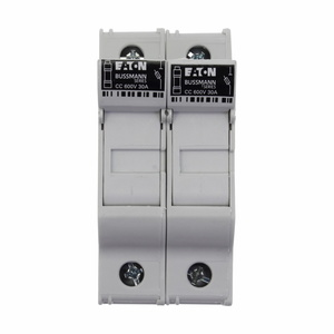 Eaton/Bussmann Series CHCC2DU Fuse Holder, Modular, Class CC, 2-Pole, No Indication, 30A, 600V