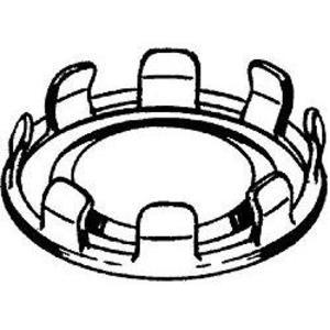 """Hubbell-Raco 1048 Knockout Seal, 2"""", Snap-In, Steel"""