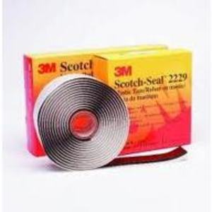 "3M 2229-1X10FT Mastic Tape, Black, 1"" x 10' Roll"