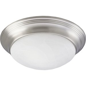 Progress Lighting P3689-09 Close to Ceiling Light, 2 Light, 60W, Brushed Nickel
