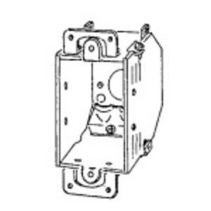 "Appleton 388-OR-44 Switch Box, Bevel Corner, 3 x 2"", NM Clamps, Steel"