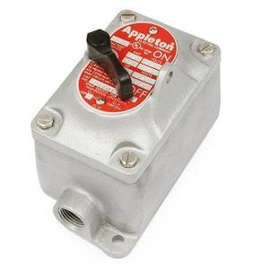 Appleton EDSC175-F1 EDS Factory Sealed Tumbler Switch, 20 Amp, 1-Pole