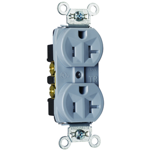 Pass & Seymour TR5362-GRY RECEP DUP TR B+S WIRE 20A/125V GRY