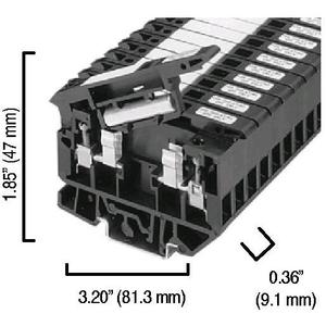 Allen-Bradley 1492-H4 Terminal Block, Fuse Holder, 15A, 100 - 300V AC/DC, Neon BFI