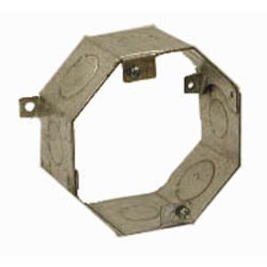 "Hubbell-Raco 270RAC 4"" Concrete Ring, Octagon, 2"" Deep, 1/2 - 3/4"" KOs, Steel"