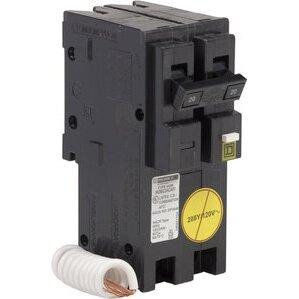 Square D HOM220CAFI Breaker, Homeline, 2P, 20A, 120/240VAC, 10kAIC, Combination AFCI