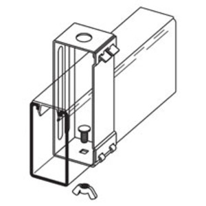 Eaton B-Line B616S-22A-9/16ZN FLUOURESCENT FIXTURE HANGER WITH STUD, 9/16-IN. DIA. FOR 1/2-IN.