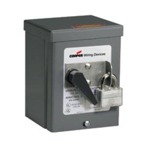 Eaton Wiring Devices AHMC360L Man Cont 2Pos 3PST 60A 600VAC Box Lug BK