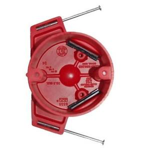 "Allied Moulded 9335-NKRED 3-1/2"" Diameter, Nail-On, Fire Alarm Box"