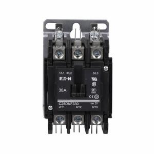 Eaton C25DNF330B Contactor, Definite Purpose, 3P, 30A, 110-240VAC Coil, 600VAC