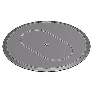 "Steel City P-68-DRC-GRY Round Duplex Receptacle Cover, Diameter: 6"", Gray, Non-Metallic"