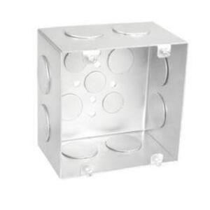 "Garvin Industries 72181-1 4-11/16"" Square Box, Welded, Metallic, 3"" Deep"