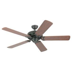 """Sea Gull 1535-07 52"""" Paddle Fan, 5-Blade, Iron/Walnut"""