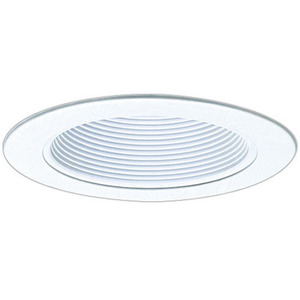 "Elco Lighting EL993W Phenolic Baffle with Metal Ring, 4"", White"